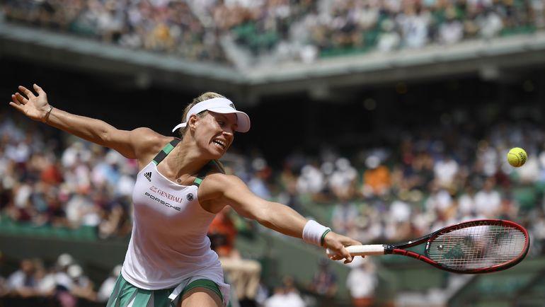 В первом круге Екатерина МАКАРОВА обыграла первую ракетку мира Анжелик КЕРБЕР. Фото AFP
