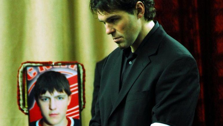 15 октября 2008 года. Яромир ЯГР на панихиде по Алексею Черепанову. Фото Валерий ГАШЕЕВ