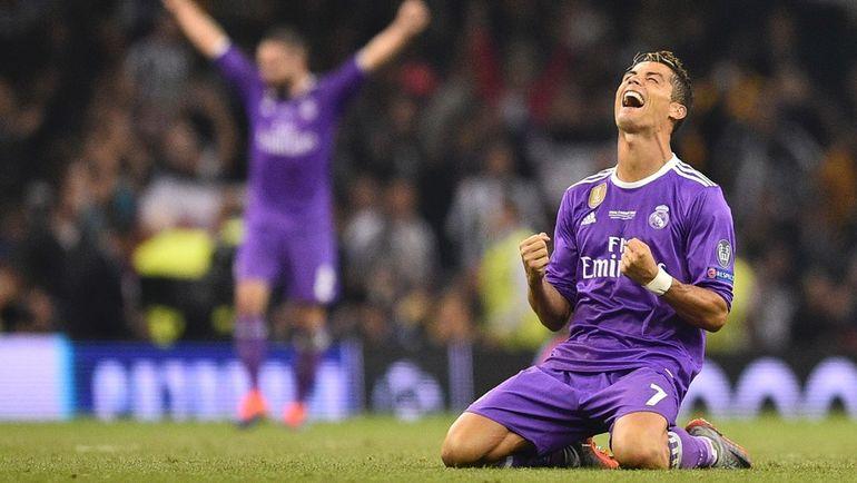 """Суббота. Кардифф. """"Ювентус"""" - """"Реал"""" - 1:4. КРИШТИАНУ РОНАЛДУ празднует победу. Фото AFP"""