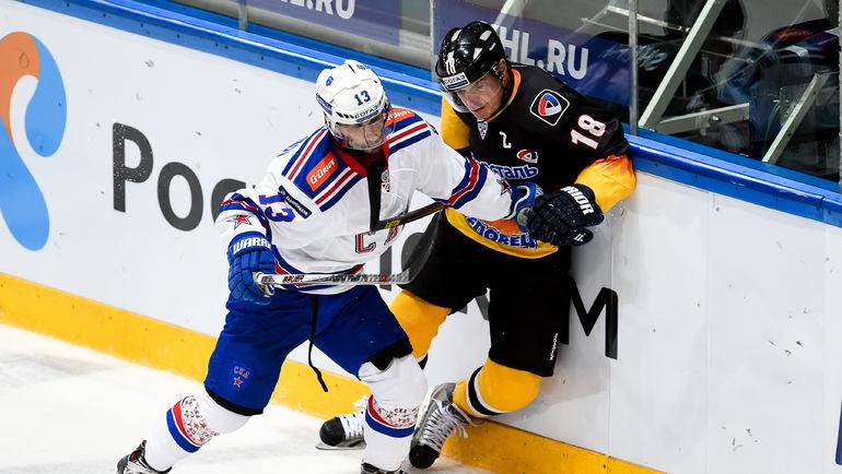Андрей ШЕФЕР (справа). Фото Сергей ФЕДОСЕЕВ, ХК СКА