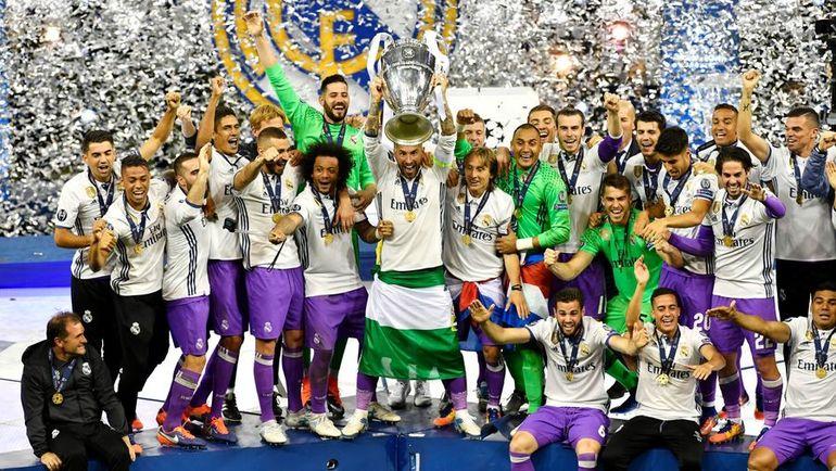 """Суббота. Кардифф. """"Ювентус"""" - """"Реал"""" - 1:4. Мадридцы празднуют победу в Лиге чемпионов. Фото AFP"""
