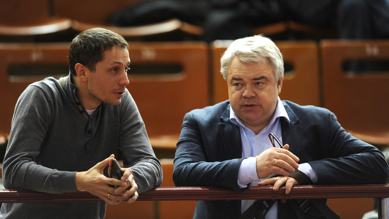 "Член президиума ВФЛА Михаил БУТОВ (справа). Фото Никита УСПЕНСКИЙ, ""СЭ"""