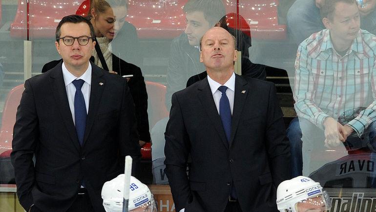 Илья ВОРОБЬЕВ (слева) и Майк КИНЭН. Фото Алексей ИВАНОВ, «СЭ»