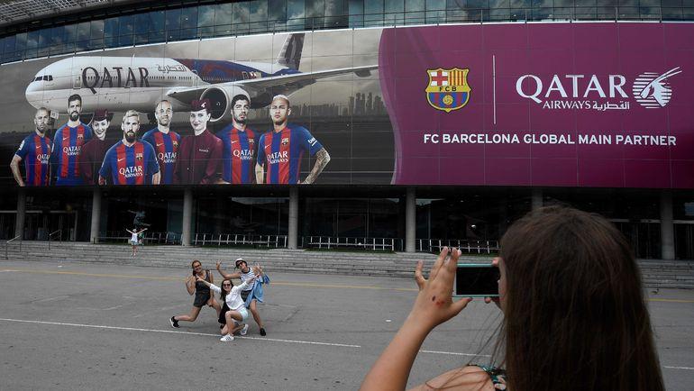 """""""Барселона"""" пока не рискнула разорвать спонсорский контракт с Катарскими авиалиниями. Фото AFP"""