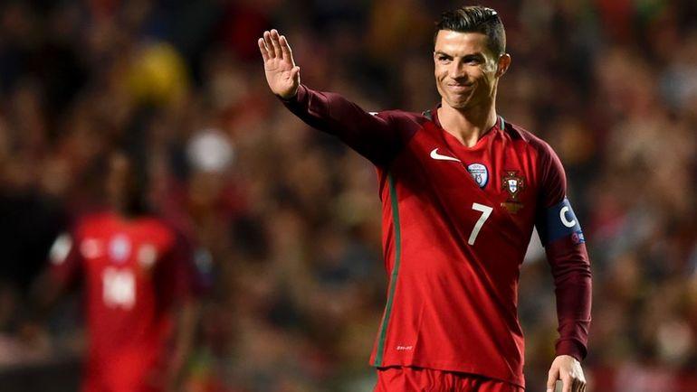 Капитан сборной Португалии КРИШТИАНУ РОНАЛДУ. Фото AFP