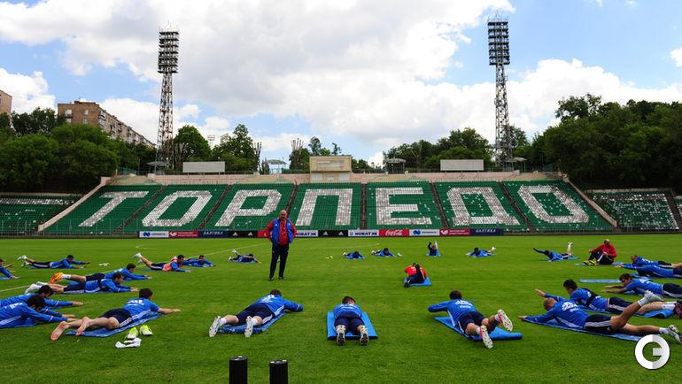 Сегодня. Москва. Тренировка сборной России.