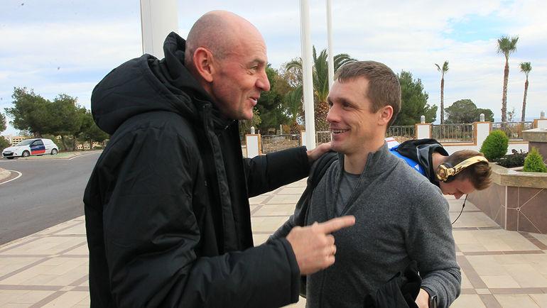 Виктор ГОНЧАРЕНКО (справа) и Виктор ОНОПКО. Фото Валентин КОБЫЩА, ПФК ЦСКА