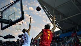 26 июня 2015 года. Баку. Россияне - победители турнира в баскетболе 3х3 на Европейских играх.