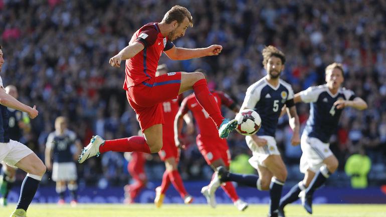 Суббота. Глазго. Шотландия – Англия - 2:2. 90+3-я минута. Харри КЕЙН приносит англичанам ничью. Фото Reuters