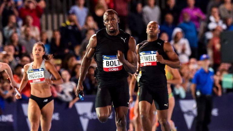 Усэйн БОЛТ в смешанной и неолимпийской эстафете 4х100 м. Фото AFP