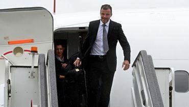 Энтони ХАДСОН в аэропорту Пулково. Фото AFP