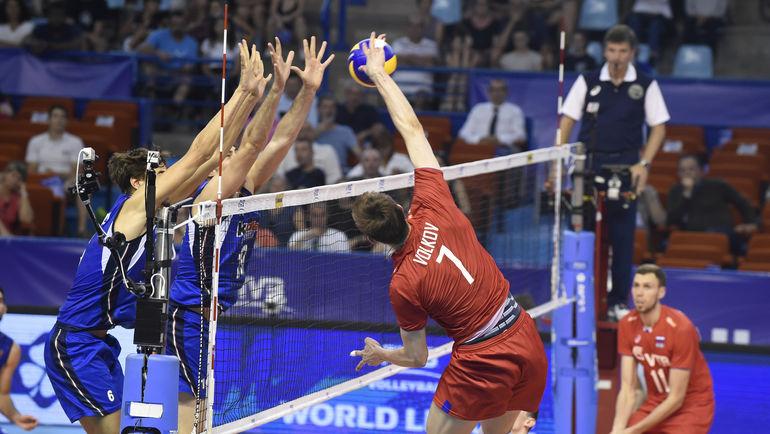 Мужская сборная России по волейболу. Фото fivb.com