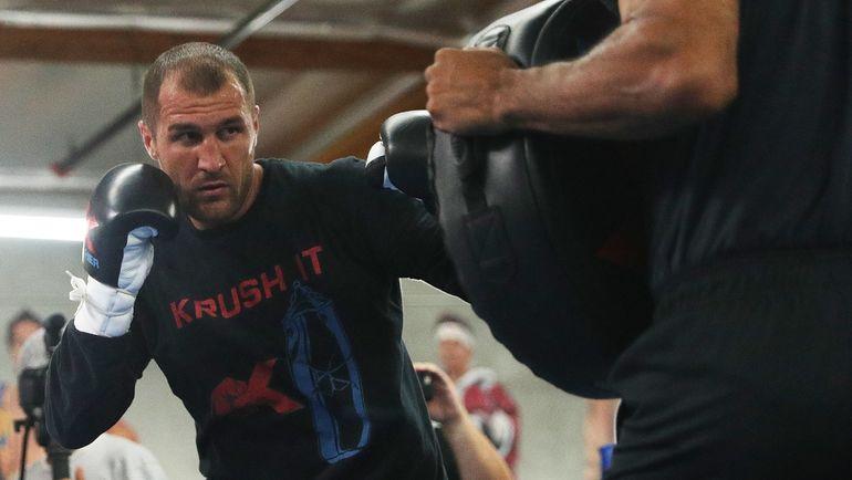 Тренировка Сергея КОВАЛЕВА перед реваншем. Фото AFP