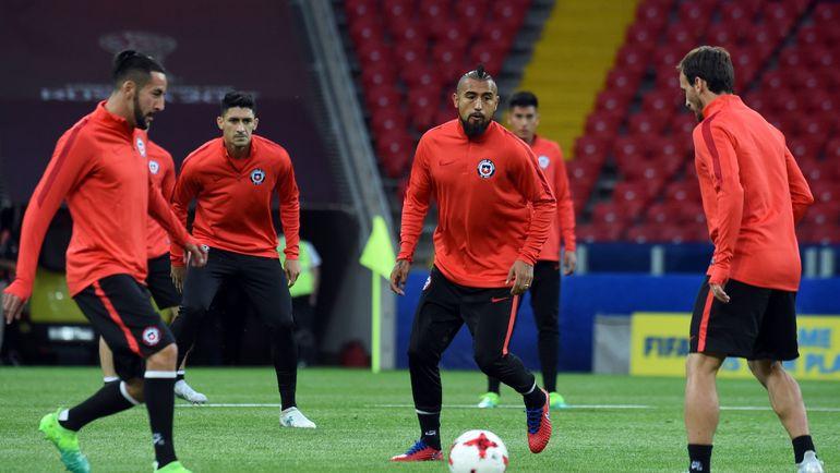 Тренировка сборной Чили в Москве. Фото AFP