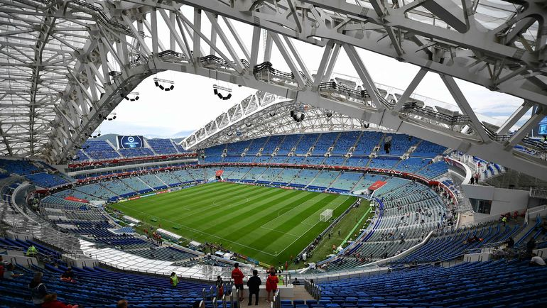 "Стадион ""Фишт"" перед началом встречи. Фото AFP"