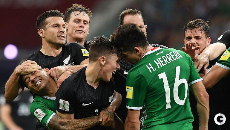 Среда. Сочи. Мексика – Новая Зеландия – 2:1. Драка футболистов в конце матча.
