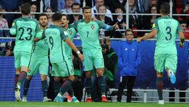Сегодня. Москва. Тушино. Россия - Португалия - 0:1. 8-я минута. Только что КРИШТИАНУ РОНАЛДУ (№ 7) открыл счет.