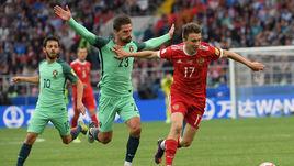 Среда. Москва. Россия - Португалия - 0:1. Александр ГОЛОВИН (17).