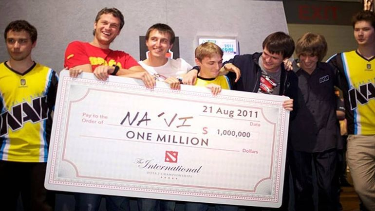 Natus Vincere на первом чемпионате мира по Dota 2.