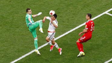 Сегодня. Казань. Мексика - Россия. 52-я минута. Гол Ирвинга ЛоСАНО. Фото Reuters