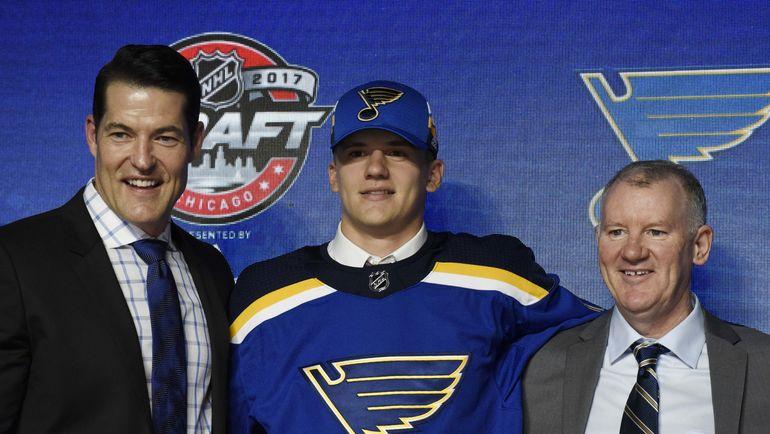 """""""Сент-Луис"""" выбрал Клима КОСТИНА в первом раунде драфта НХЛ. Фото AFP"""
