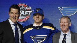 """""""Сент-Луис"""" выбрал Клима КОСТИНА в первом раунде драфта НХЛ."""