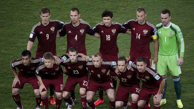 17 июня 2014 года. Куяба. Россия - Корея - 1:1. Командное фото сборной России. Фото Reuters