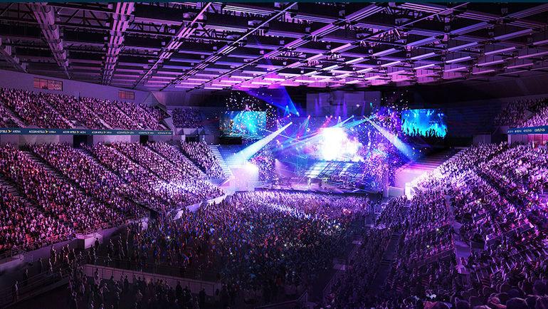 AccorHotel Arena.