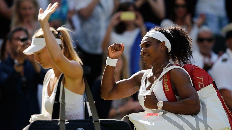 Мария ШАРАПОВА и Серена УИЛЬЯМС: борьба за популярность за пределами корта увлекает фанатов не меньше, чем игра россиянки и американки. Фото AFP