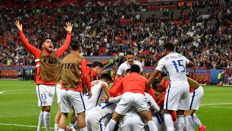 Радость сборной Чили. Фото AFP