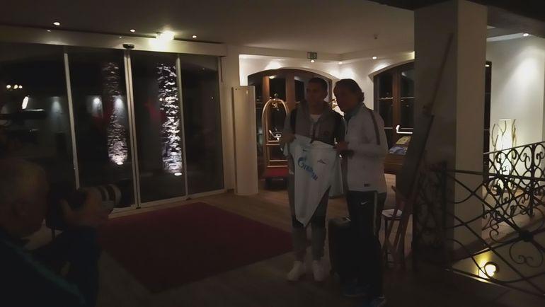"""Леандро ПАРЕДЕС (слева) и Роберто МАНЧИНИ. Фото """"СЭ"""""""