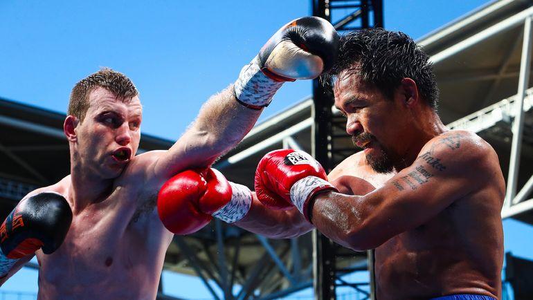 Джефф ХОРН (слева) и Мэнни ПАКИАО. Фото AFP