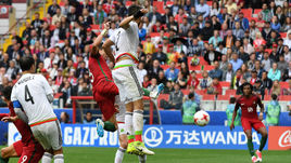 Сегодня. Москва. Португалия - Мексика - 2:1. ПЕПЕ сравнивает счет на последних секундах основного времени матча.
