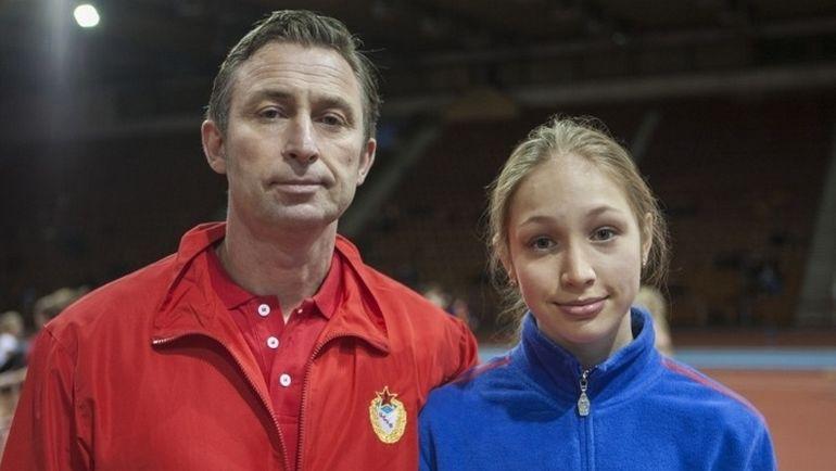 Аксана ГАТАУЛЛИНА и ее отец Родион. Фото cska.ru