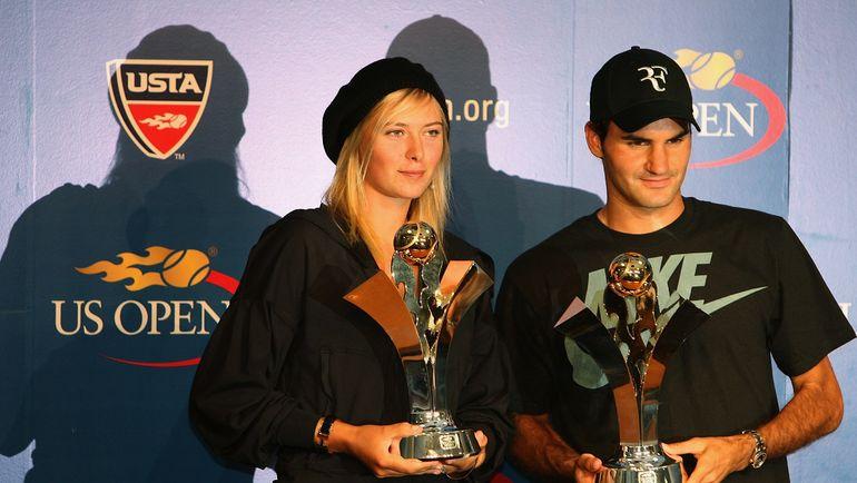 Мария ШАРАПОВА и Роджер ФЕДЕРЕР. Фото AFP