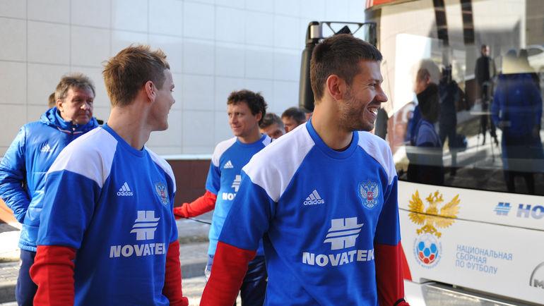 """Федор СМОЛОВ (справа) и Александр КОКОРИН (слева). Фото Александр ФЕДОРОВ, """"СЭ"""""""