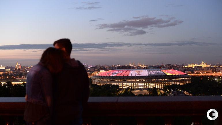 Сегодня. Москва. Вид на главную арену ЧМ-2018 с Воробьевых гор.