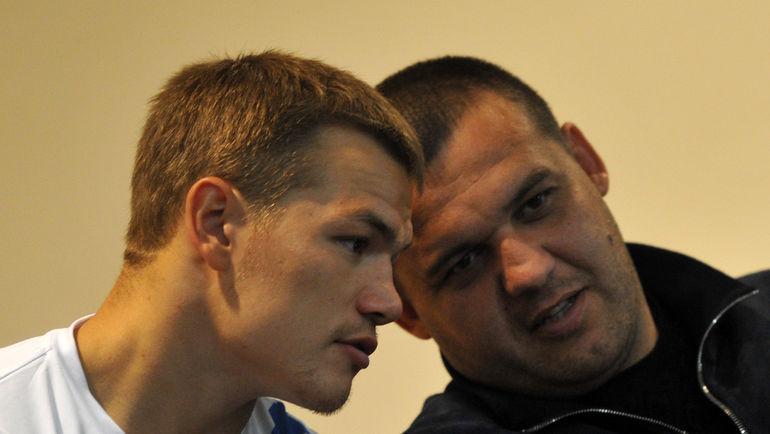 Генеральный секретарь ФБР Умар КРЕМЛЕВ (справа) и Федор ЧУДИНОВ. Фото Никита УСПЕНСКИЙ