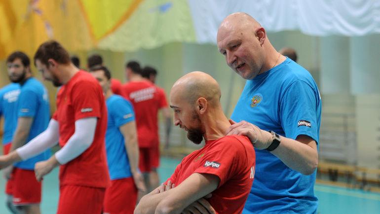 """Дмитрий ТОРГОВАНОВ (справа) и Тимур ДИБИРОВ. Фото Алексей ИВАНОВ, """"СЭ"""""""