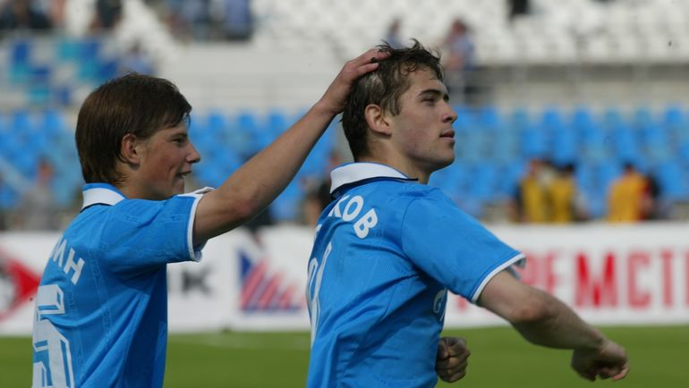 2002 год. Александр КЕРЖАКОВ (справа) и Андрей АРШАВИН. Фото Александр ФЕДОРОВ, «СЭ»