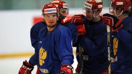 Андрей ЛОКТИОНОВ на тренировке сборной России в 2016 году.