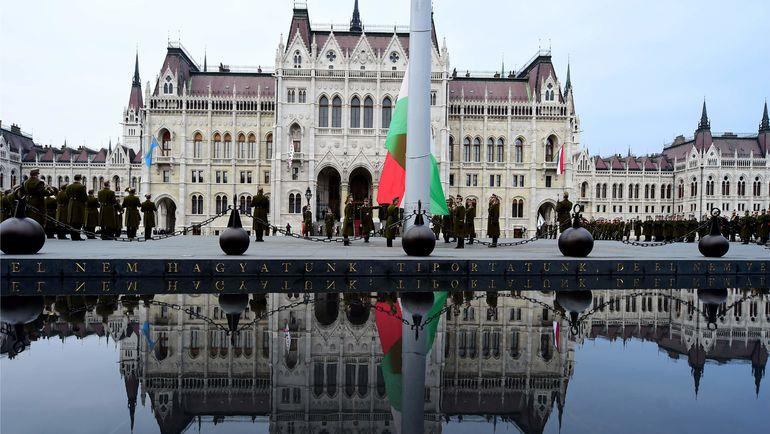 """в Венгрии с 2013 года действует запрет на публичную демонстрацию """"символов тоталитаризма"""". Фото AFP"""