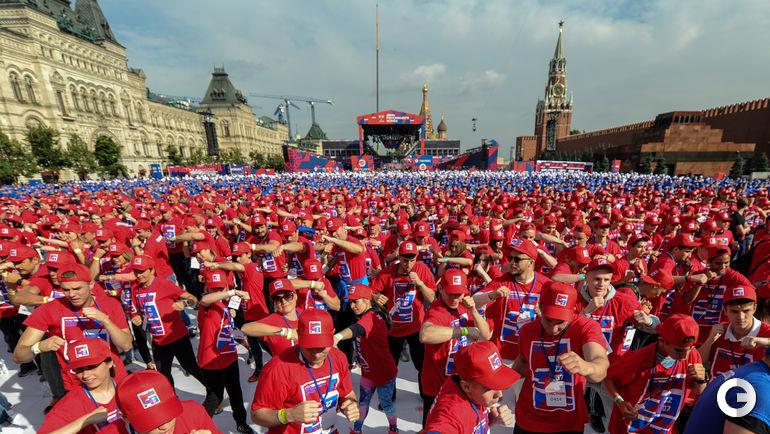 Сегодня. Москва. Открытая тренировка по боксу на Красной площади.
