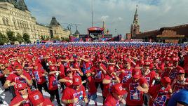 Сегодня. Москва. Шоу бокса на Красной площади.