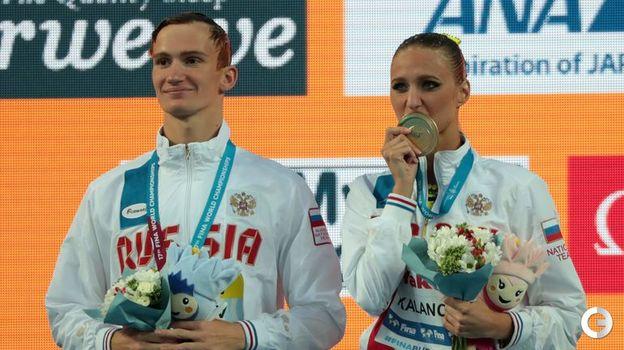 Сегодня. Будапешт. Михаэла КАЛАНЧА (справа) и Александр МАЛЬЦЕВ. Фото AFP