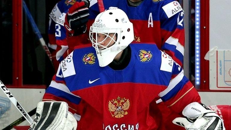 Александр ГЕОРГИЕВ в составе молодежной сборной России. Фото ФХР