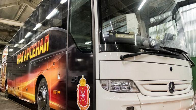 """Тульский """"Арсенал"""" был оштрафован за неправильный выход из автобуса. Фото ФК """"Арсенал"""" Тл"""