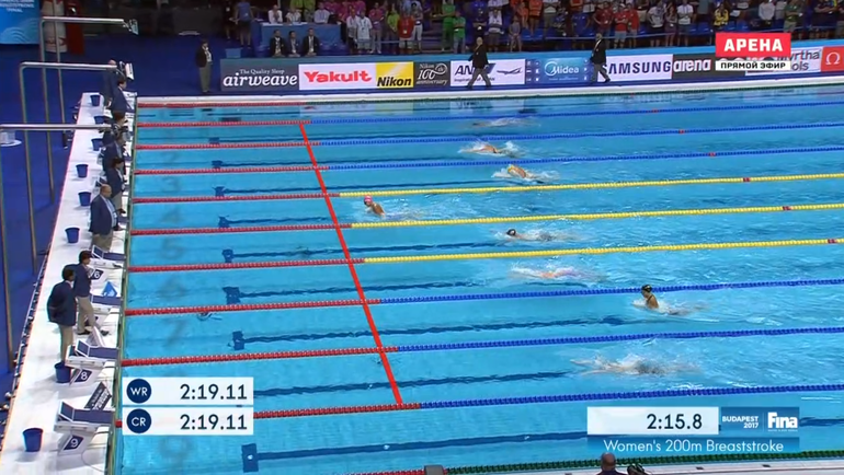 Золотой заплыв Юлии Ефимовой на 200-метровке.