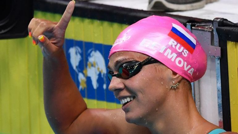 Сегодня. Будапешт. Юлия ЕФИМОВА выиграла свое пятое золото на чемпионатах мира. Фото AFP