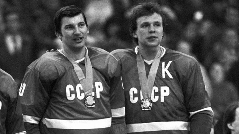Владислав ТРЕТЬЯК и Вячеслав ФЕТИСОВ. Фото Андрей ГОЛОВАНОВ